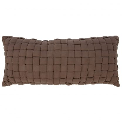 Soft Weave Pillow- Chocolate