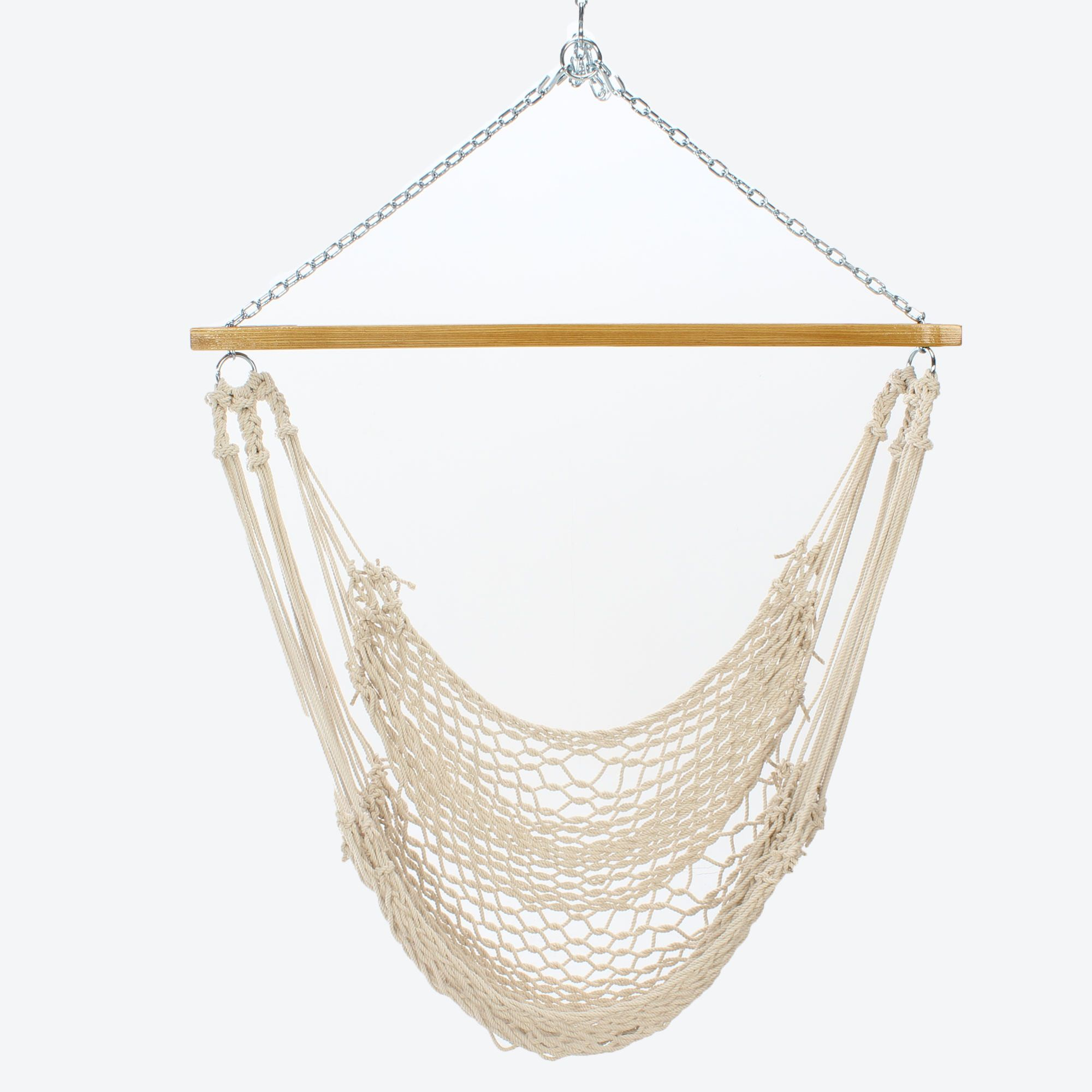 Single Cotton Rope Swing Nc Hammock Company